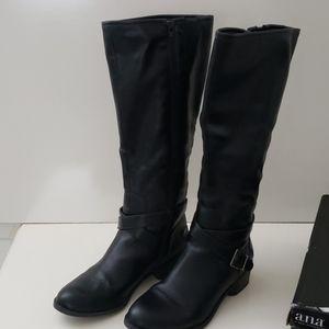 Ana Dylan black tall boots 9.5M EUC